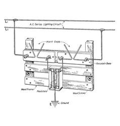 Horn-gap protector vintage vector