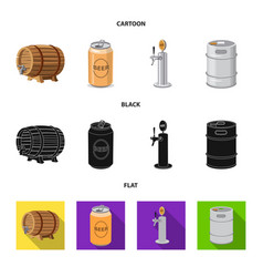 Isolated object of pub and bar icon collection of vector