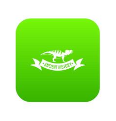 jurassic dino icon green vector image