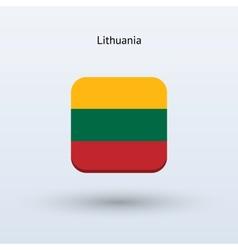 Lithuania flag icon vector
