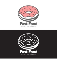 logo sweet donut with icing vector image