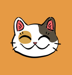 lucky cat maneki neko head vector image