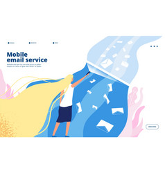 mobile email service phone newsletter inbox vector image