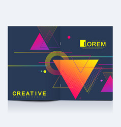 Modern template for brochure leaflet vector