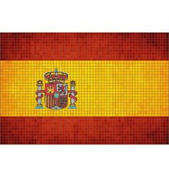Mosaic Flag of Spain vector