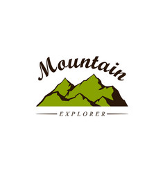 mountain explorer adventure badge logo vector image
