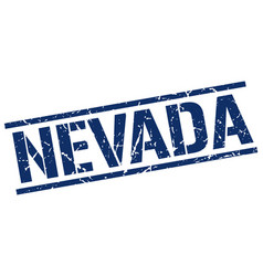 Nevada blue square stamp vector