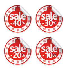 New year sale stickers set vector