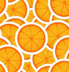 Orange seamless background vector image