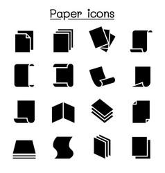 paper icon set graphic design vector image
