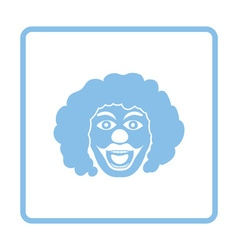 Party clown face icon vector