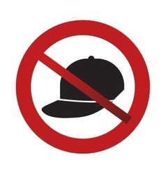 prohibited cap sport fashion element sign road vector image