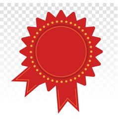 Red starburst label or sunburst badge icon vector