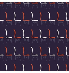 Restaurant Chairs Vintage Seamless Pattern vector image