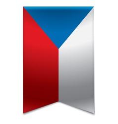 Ribbon banner - czech republic flag vector image