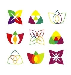Set of bright geometrical logos vector image