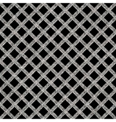 Silver seamless pattern cage vector image
