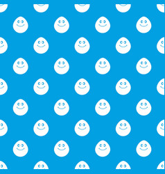 smiling lime pattern seamless blue vector image