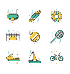 Summer activities and recreation vector