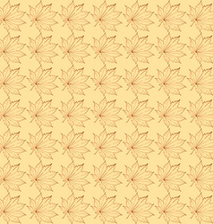 The pattern of maple leaves vector
