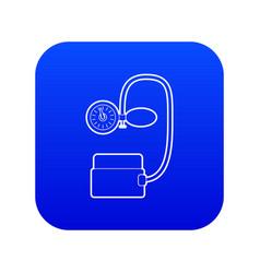 Tonometer pressure icon blue vector
