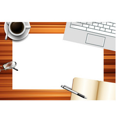 top view table template vector image