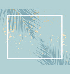 Trendy chic pattern in tropical style and gold vector