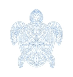 Turtle Stylised Doodle Zen Coloring Book Page vector