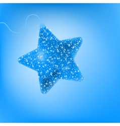 Twinkling blue star vector