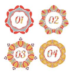 Vintage label options with floral design vector image