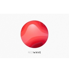 Wave logo Business Icon Red logo Company logo vector image