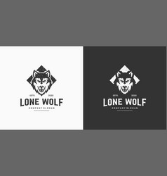 wolf vintage logo stock vector image