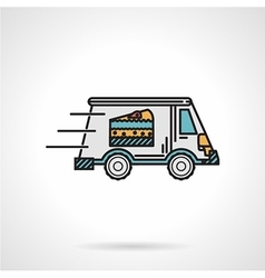 Dessert delivery flat color icon vector image vector image