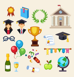 graduation education univercity or school vector image