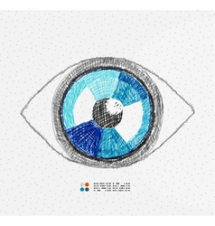 Hand drawn eye vector image