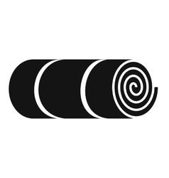 Rolled-up tourist mat vector