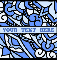 a beautiful leaflet with a blue mandala pattern vector image