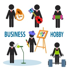 Business hobby vector image vector image