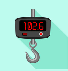 digital fishhook scales icon flat style vector image
