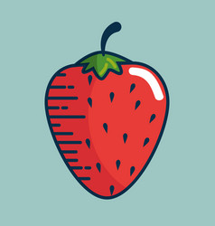 strawberry fresh fruit handmade drawn vector image
