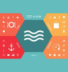 wave icon symbol vector image