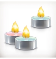 Aromatic candles icons vector image vector image
