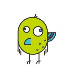 funny crazy bird vector image