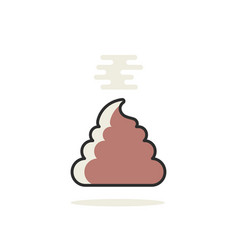 simple linear pile of shit icon vector image vector image