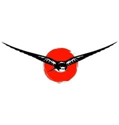 Swallows at sunset vector image