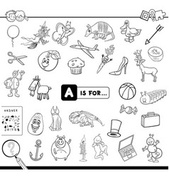 A is for educational game coloring book vector