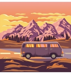 A mountain landscape vector
