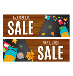 abstract back to school sale background with vector image