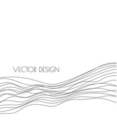abstract black curved wave vector image