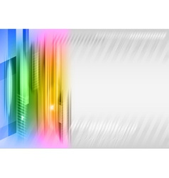abstract shape rainbow vector image